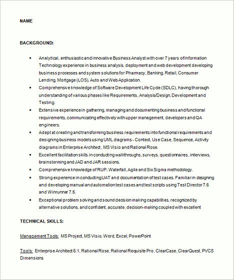 Business analyst resume sample writing guide rg