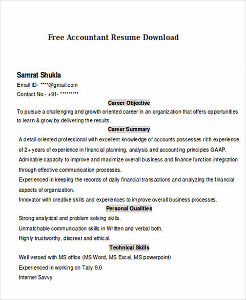 boost your career with accountant resume template