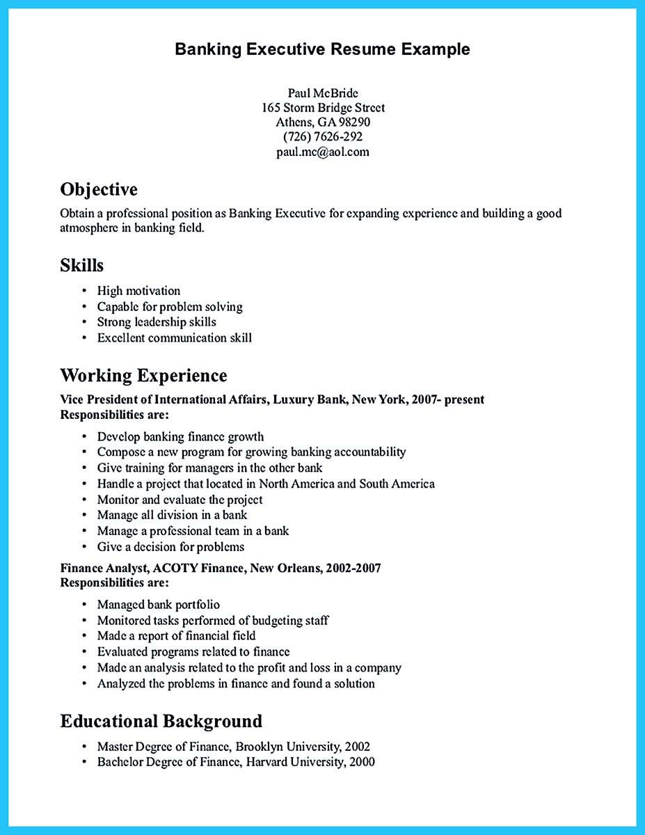 Banking-Executive-Resume-Example