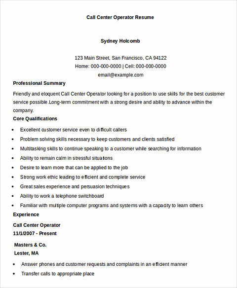 Call Center Manager Cover Letter Sample: Call Center Resume: The Key Success For The Applicants