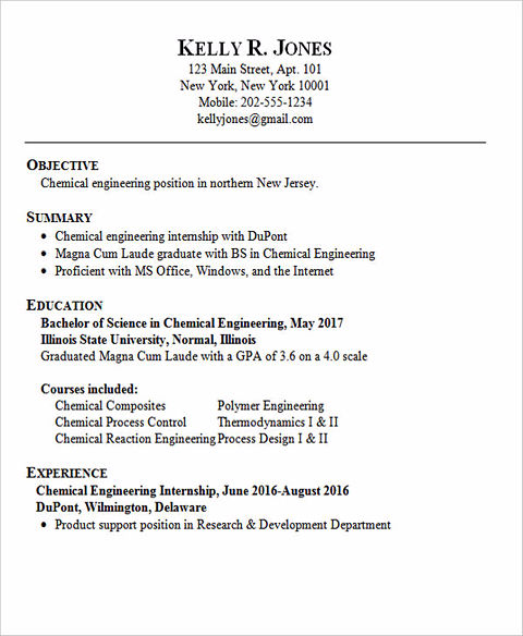 powerful entry level engineering resume samples to get hired