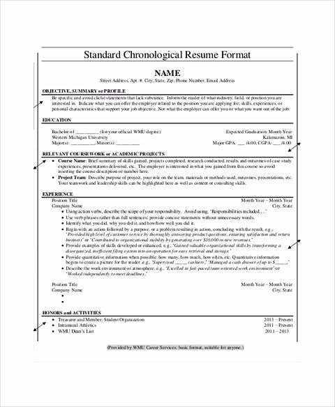 Everything You Have To Know About Chronological Resume