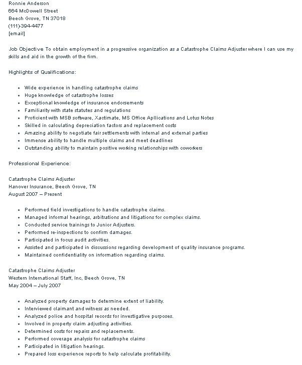 Automotive appraiser resume