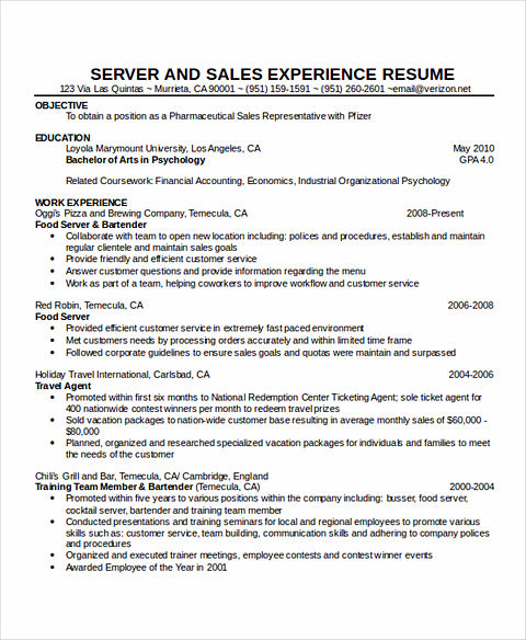 server resume sample waitress resume samples waitress duties on - Sample Of Waitress Resume