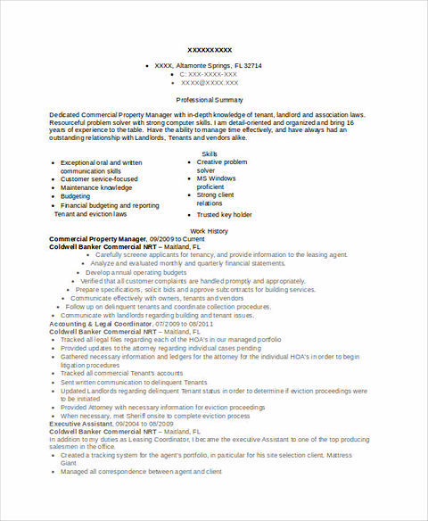 Real Estate Resume for Reaching Success