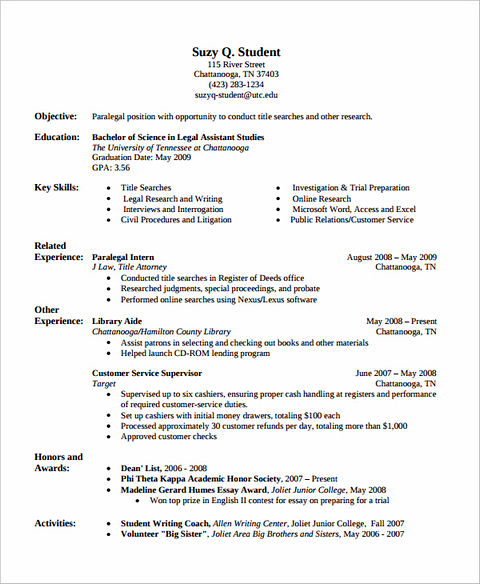 The Order of Good Chronological Resume Sample
