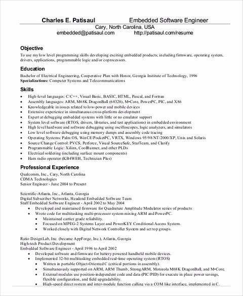 Sample Software Resume and Tips