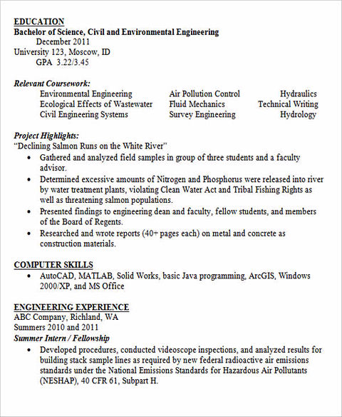 previous post - Entry Level Engineering Resume