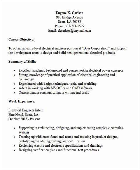 Previous Post  Entry Level Electrical Engineering Resume