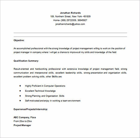 project manager resume sample and tips