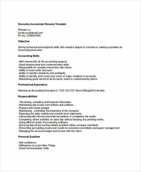 perfect accounting resume
