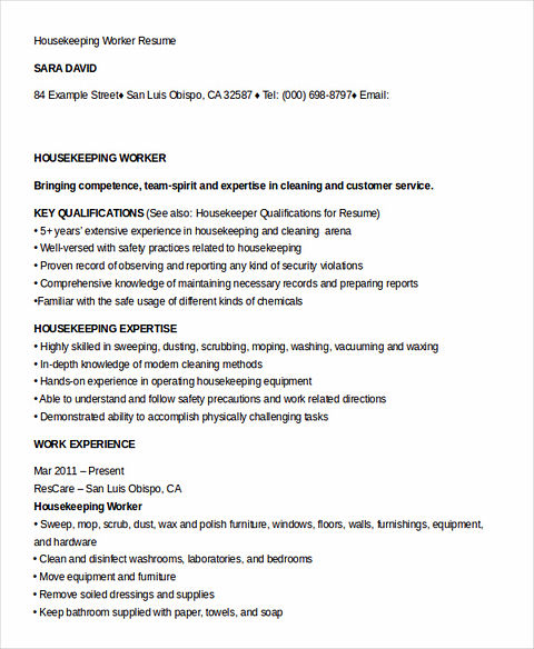 what you have to know when writing your housekeeper resume