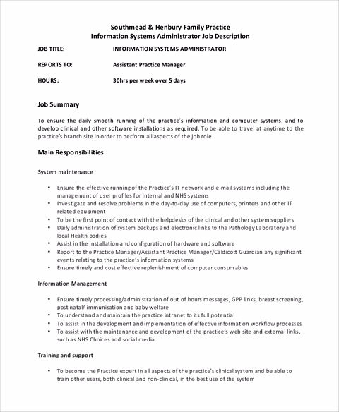 Computer systems administrator sample resume