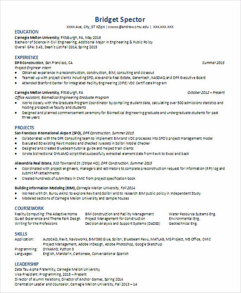 previous post - Junior Civil Engineer Resume