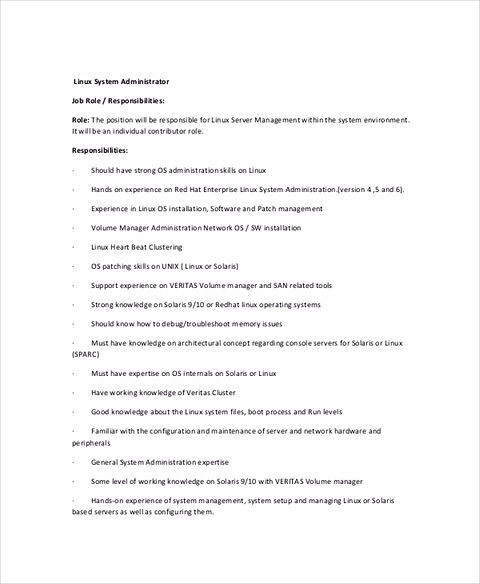 system administrator resume should tell you about everything you want to tell to the company in short words and sure use professional words and resume - Linux System Administrator Resume Sample