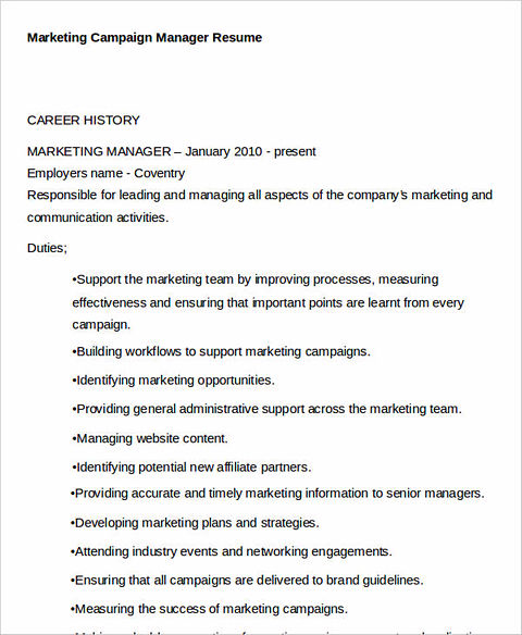 the best way to provide the best marketing resume