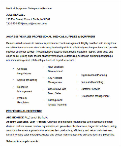 sells yourself through great salesperson resume