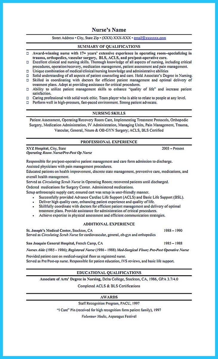 high quality critical care nurse resume samples