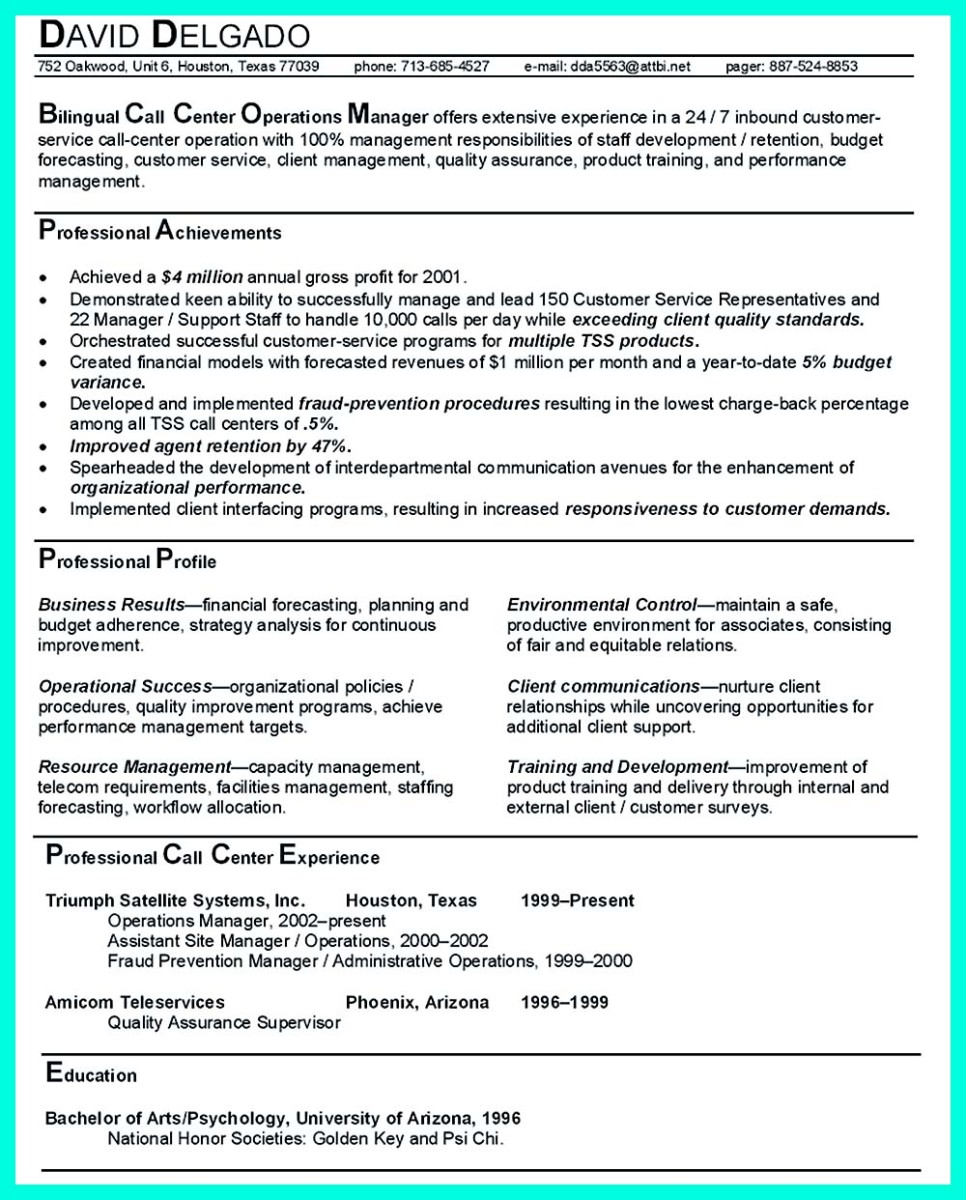 Operations-Manager-Resume
