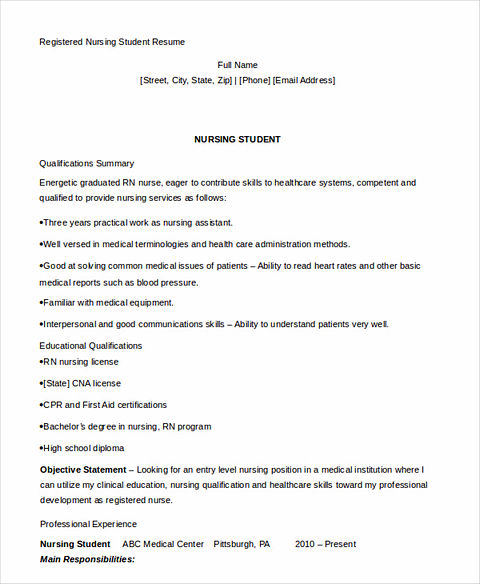 Read: Have Your Own Best Teacher Resume! Nursing Student ...