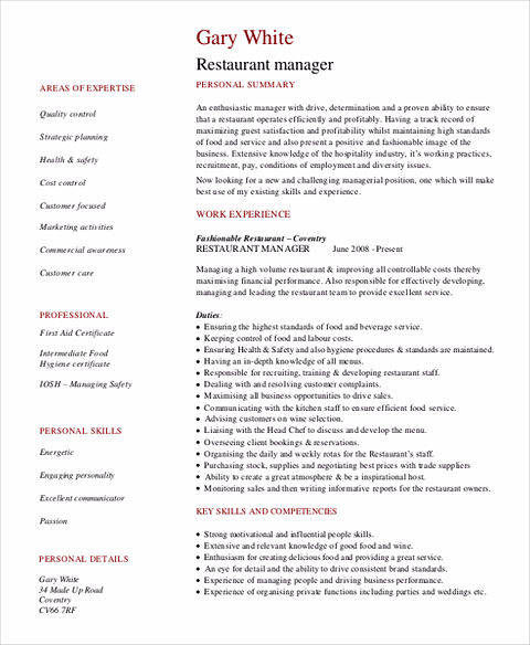 Great Restaurant Manager Resume? Here Come the Secrets!