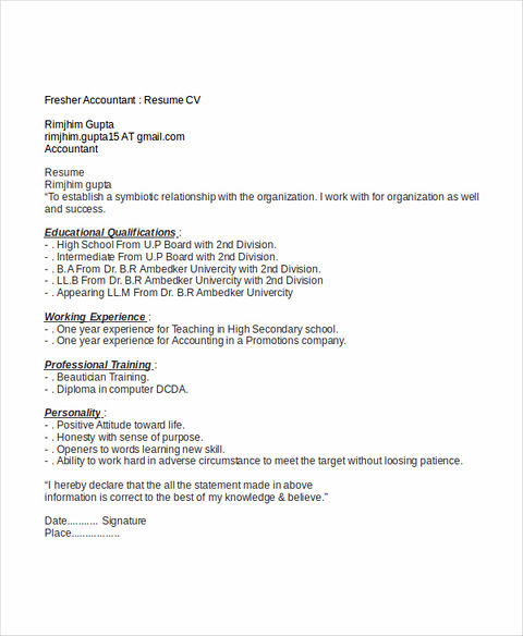 Awesome Accounting Student Resume