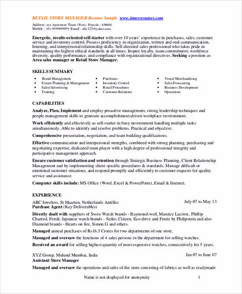 department store manager resume gallery of walmart shift manager