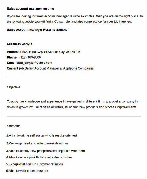 Regional sales manager resume examples