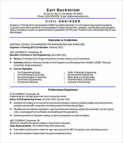 ocean engineer sample resume 18 civil engineering genius