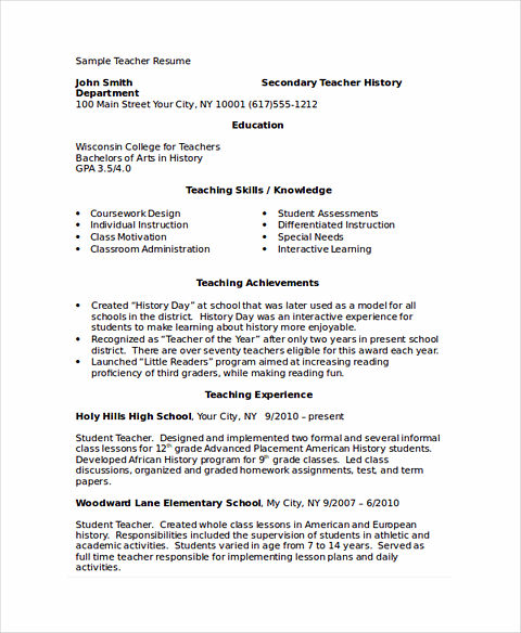 Excellent Academic Resume Template To Get Job