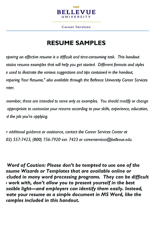 sample resumes - Best Formats For Resumes