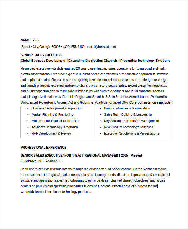 Senior Sales Executive Resume4
