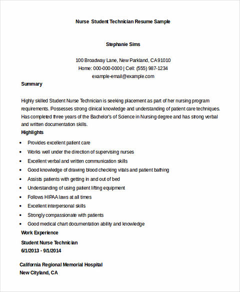 nursing graduate resume sample