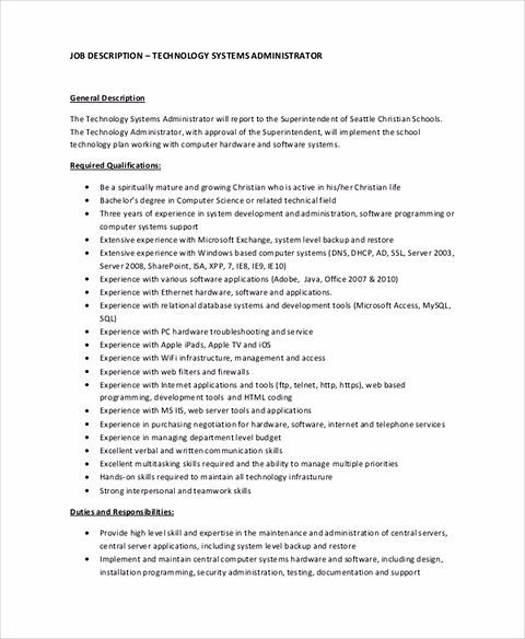 System Administrator Resume Should Tell You About Everything You Want To  Tell To The Company In Short Words And Sure Use Professional Words And  Resume ...