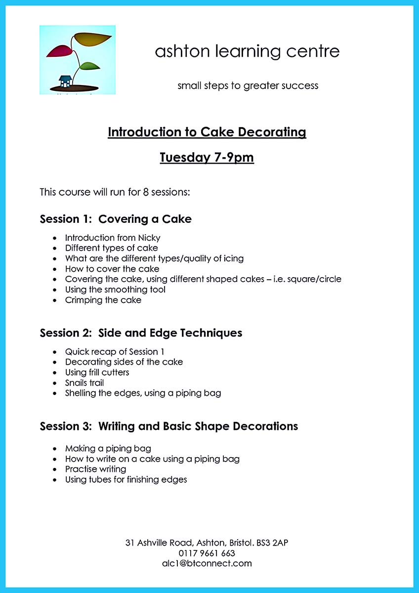 a cake decorator resume