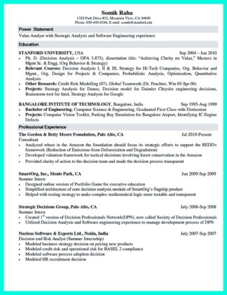 a computer science resume