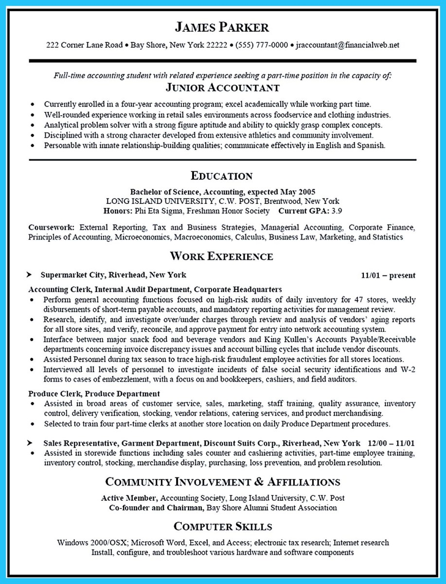 Accounting Analyst Resume And Accounting Resume Examples 2015  Accounting Student Resume