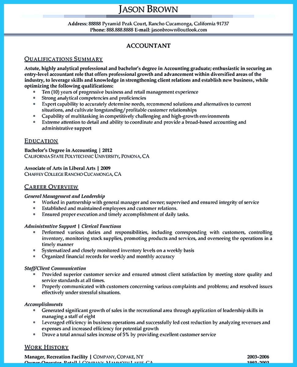accounting associate resume - Roberto.mattni.co