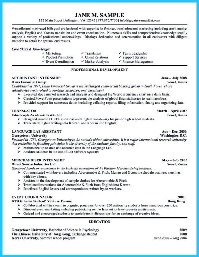 accounting resume template and accounting resume summary