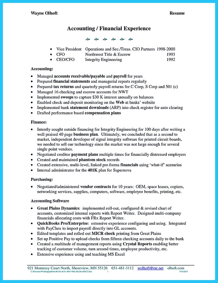 awesome account receivable resume to get employer impressed