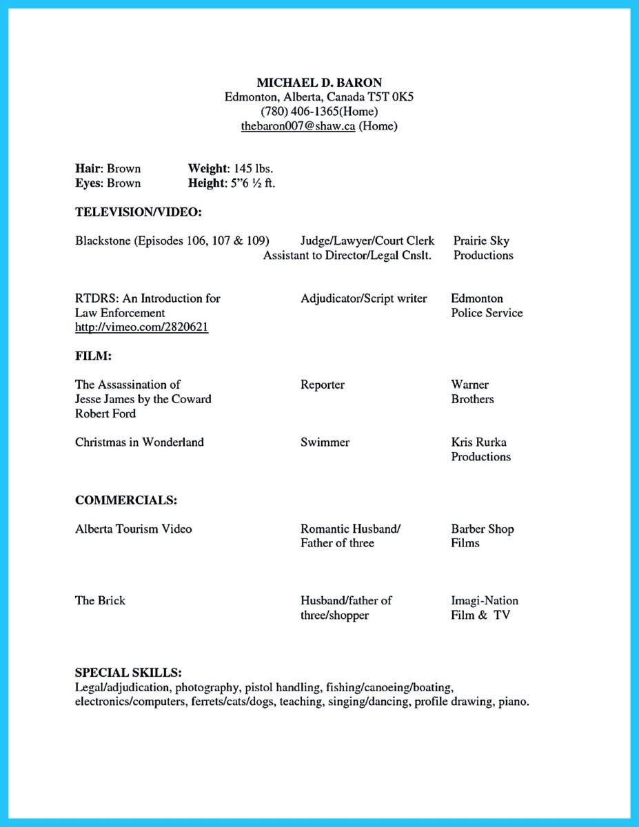 modeling resume template model resume format promotional
