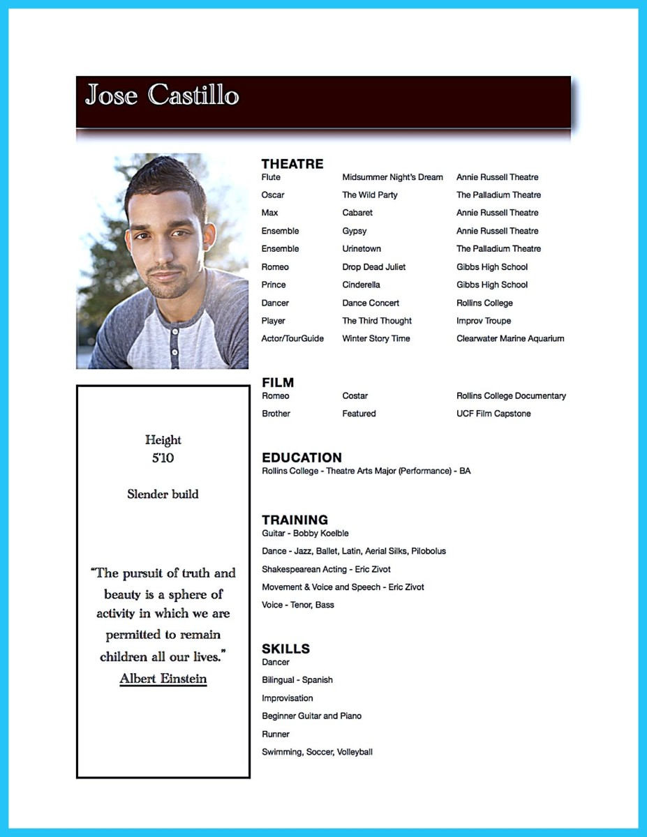 acting resume template for microsoft word 2