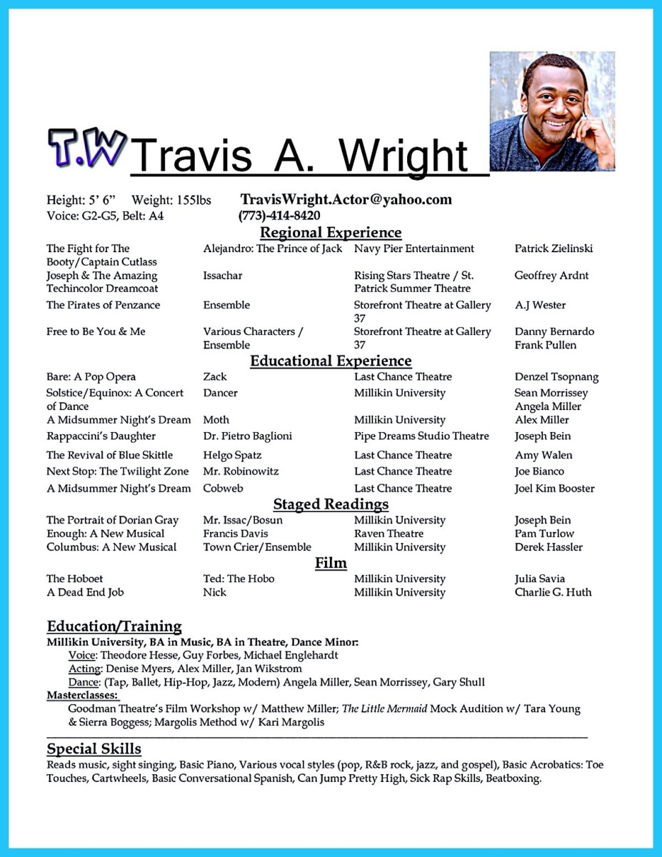 acting resume template for microsoft word