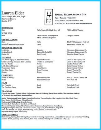 acting resume template free