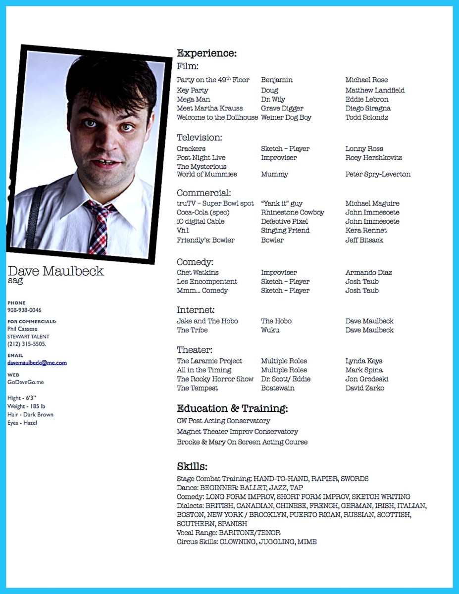 Read: Software Developer Resume Sample And Tips · «  Actor Resume Template Word