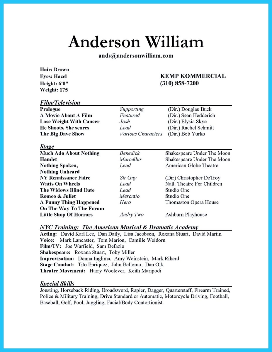 acting resume template for microsoft word 324x420 acting resume