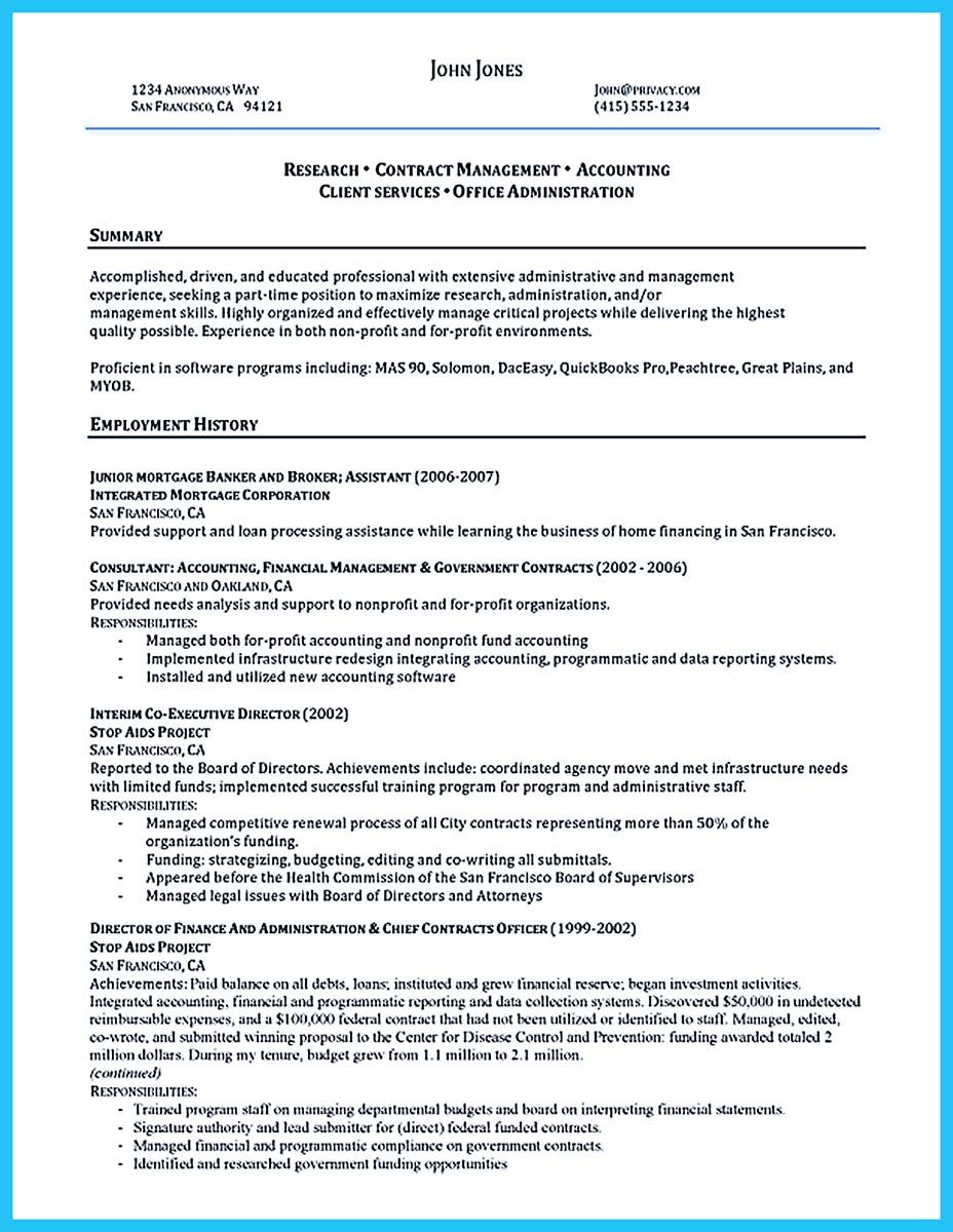Professional Administrative Resume Sample to Make You Get the Job  %Image Name