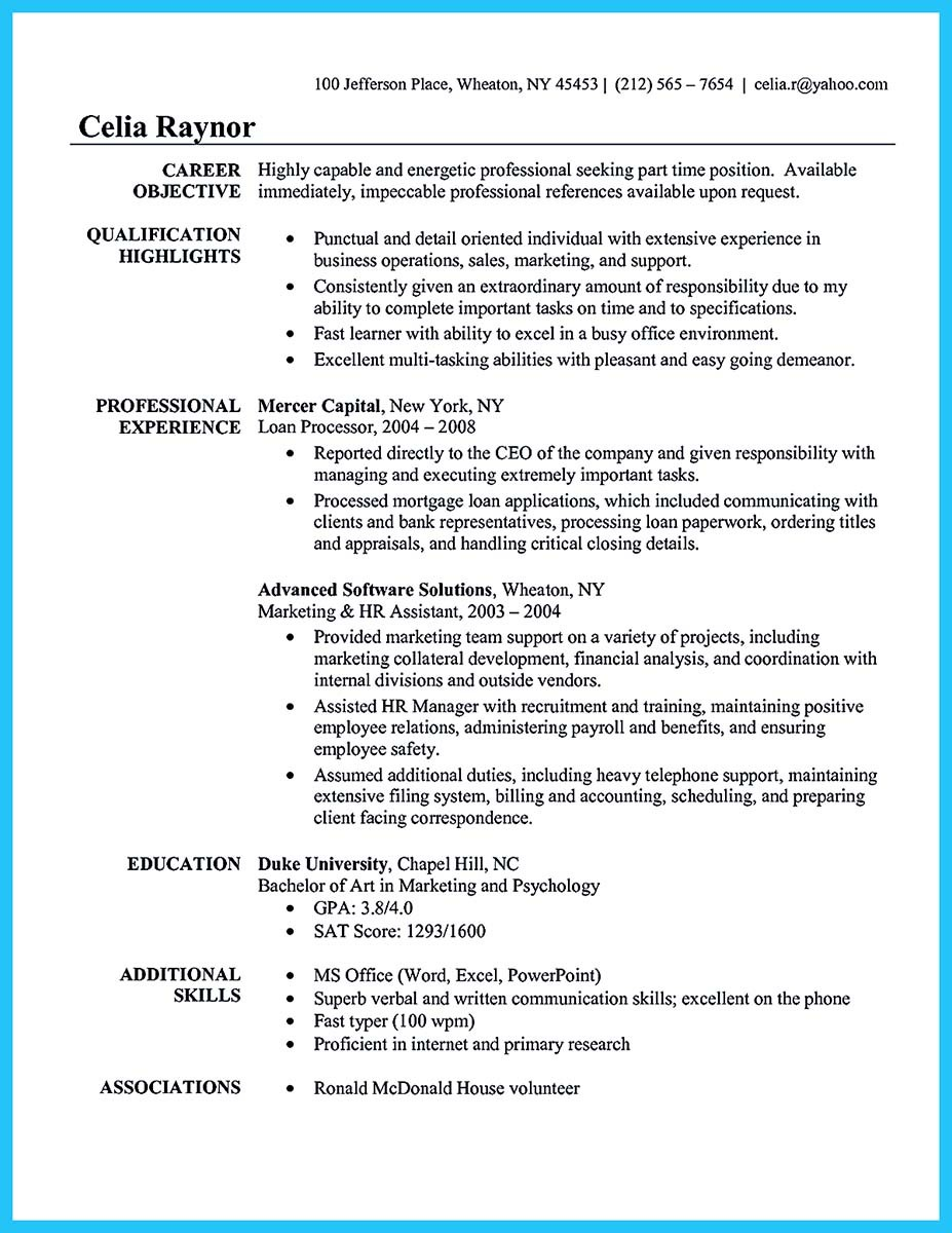 hr assistant resume