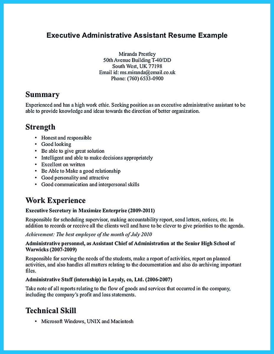 Good Administrative Assistant Resume Administrative Assistant Resume