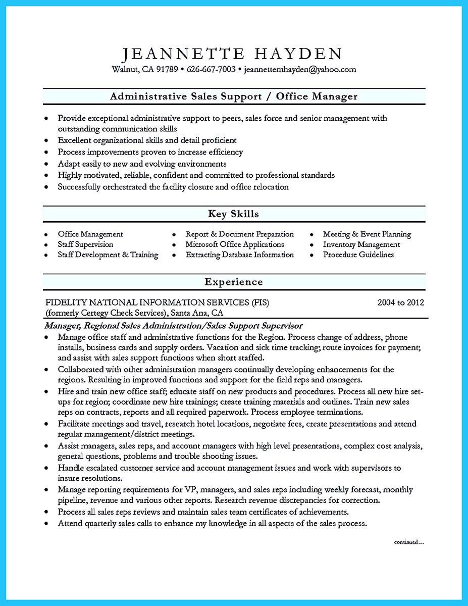 how to include detailled experience description in a job resume